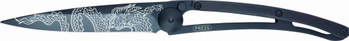 DEEJO Nóż składany Dragon black granadilla wood TATTOO 37 g 1GB107