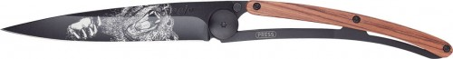 DEEJO Nóż składany Grizzly black Coralwood TATTOO 37 g 1GB128