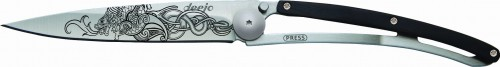 DEEJO Nóż składany Viking dragon granadilla wood TATTOO 37 g 1CB019