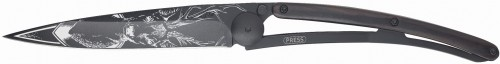 DEEJO Nóż składany Deer black granadilla wood TATTOO 37 g 1GB123