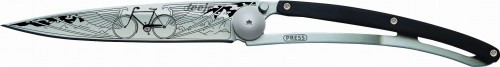 DEEJO Nóż składany Bicycle black granadilla wood TATTOO 37 g 1CB032